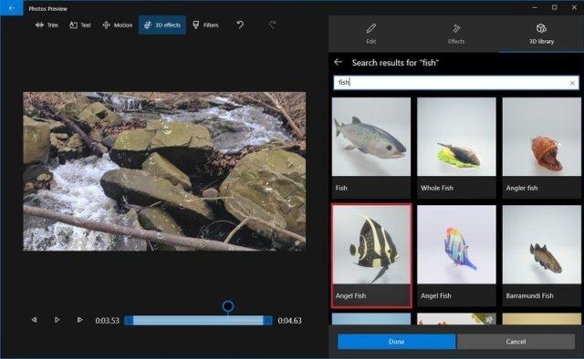 Photos video editor 3D library