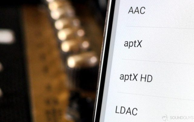 Image of Android Bluetooth codecs including aptX and LDAC