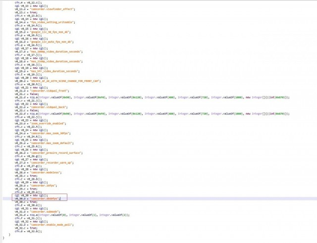 Screenshot from the source code