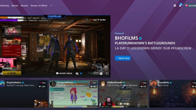Mixer Homepage March