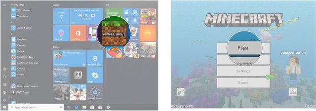 Launch Minecraft. Click Play.