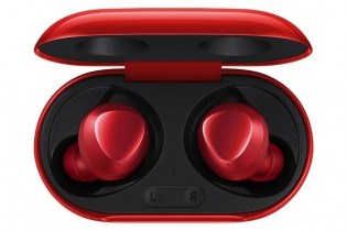 Red Samsung Galaxy Buds+
