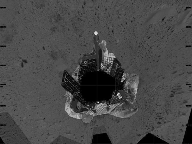 mars spirit rover selfie