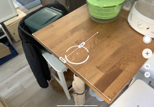 Pour mesurer des coins de table