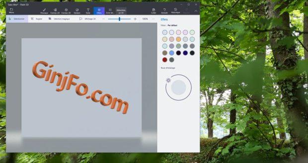 Paint 3D sous Windows 10