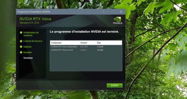 Utilitaire RTX Voice de Nvidia