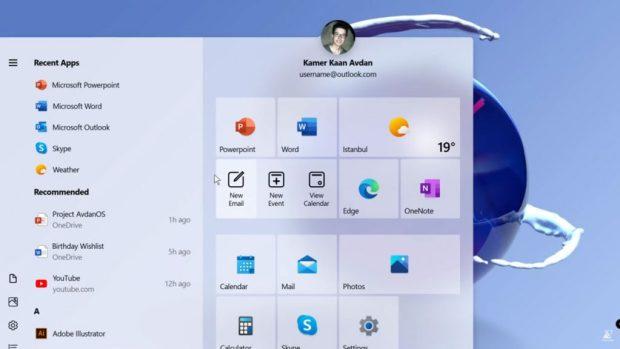 Windows 10, Concept Design « Windows 20 »