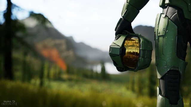 The Master Chief in the first Halo Infinite trailer.