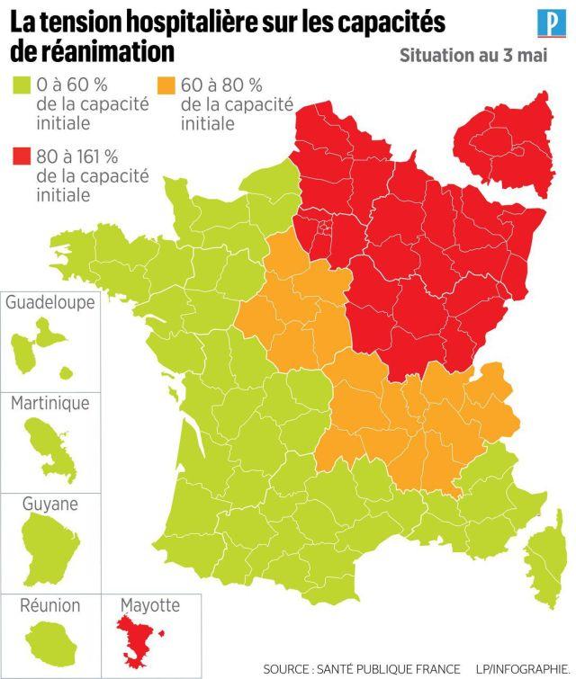 Coronavirus : 135 décès en 24 heures, une nouvelle carte de déconfinement