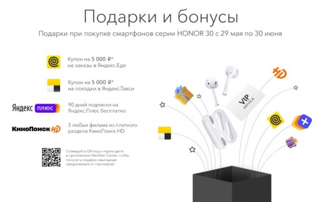 All the gifts Yandex is giving to Honor 30 owners