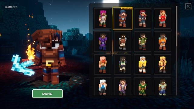 Minecraft Dungeons Cross Play Change Skin