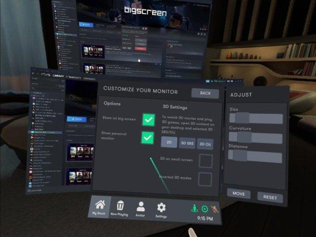 Bigscreen Screenshot Remote Desktop