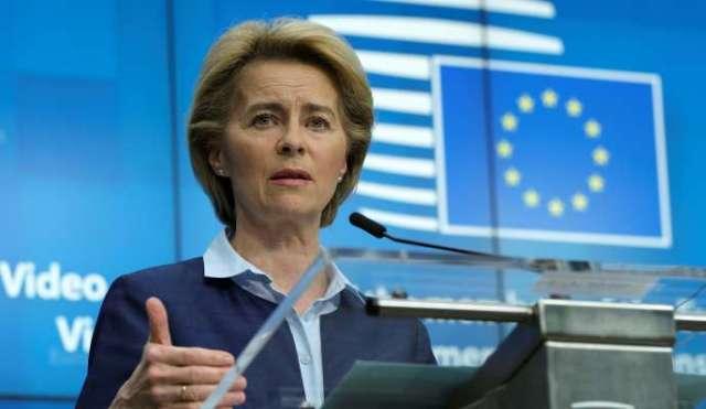 La présidente de la Commission européenne, Ursula von der Leyen, le 23avril.
