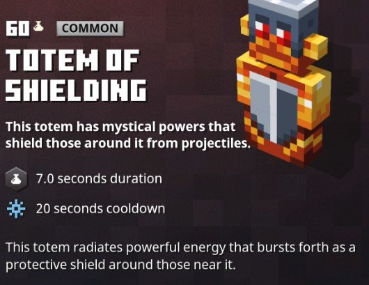 Minecraft Dungeons Totem Of Shielding