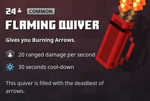 Minecraft Dungeons Flaming Quiver