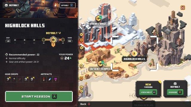Minecraft Dungeons Highblock Halls Map