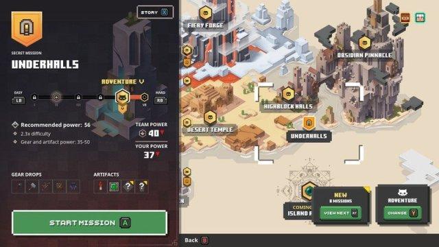 Minecraft Dungeons Underhalls Map