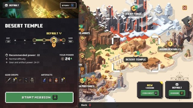 Minecraft Dungeons Desert Temple Map