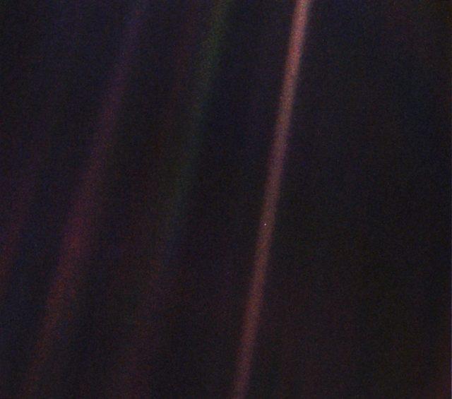 pale blue dot of earth