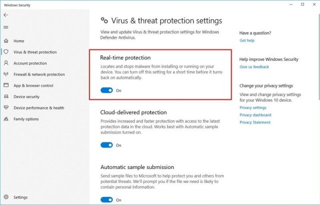Windows 10 disable antivirus before version 2004 upgrade
