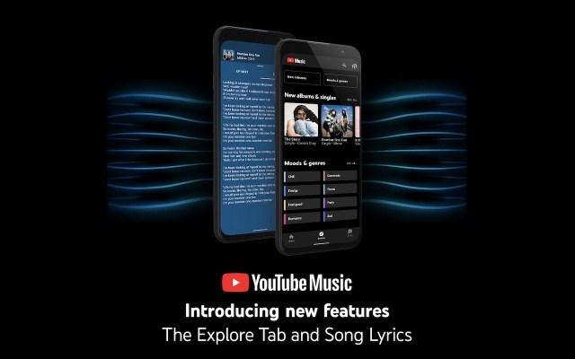 YouTube Music Explore Tab and Sony Lyrics
