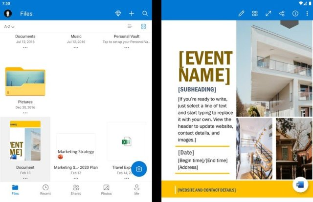 OneDrive on Surface Duo