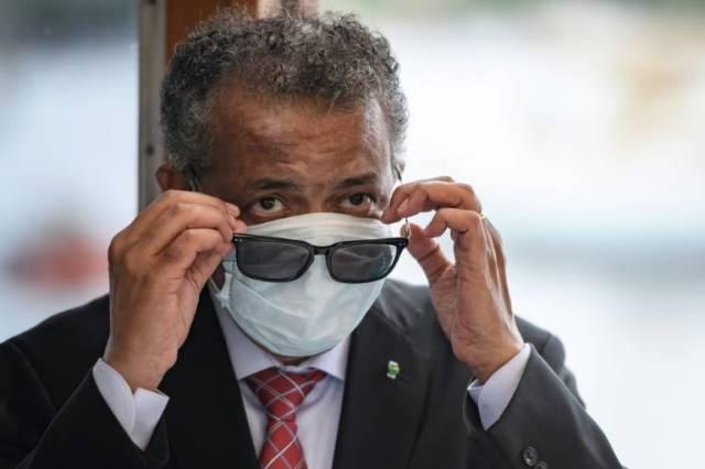 Le directeur de l'OMS Tedros Adhanom Ghebreyesus à Genève, le 11 juin 2020. ( AFP / Fabrice COFFRINI )