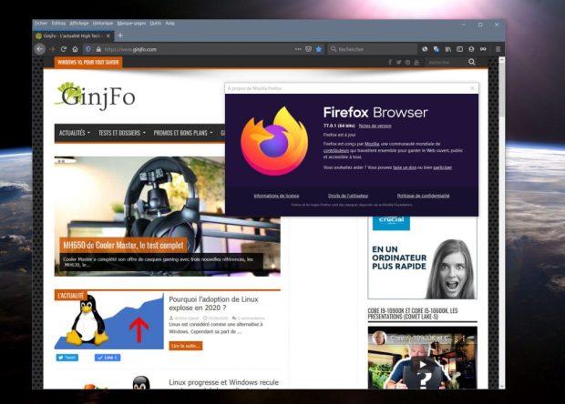 Navigateur Firefox 77 de Mozilla