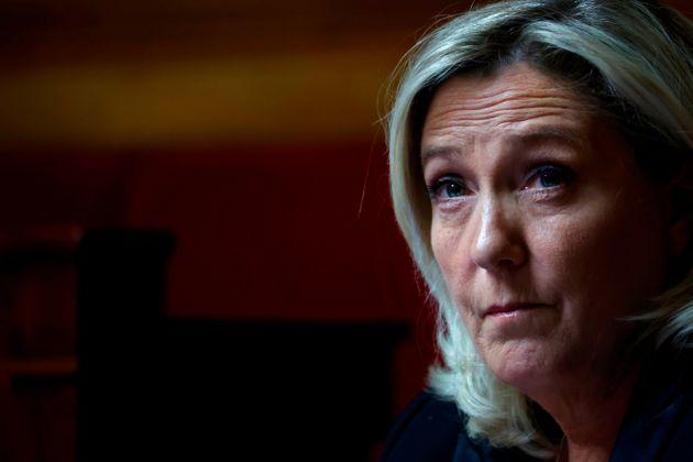Marine Le Pen le 17 avril à l'Assemblée nationale