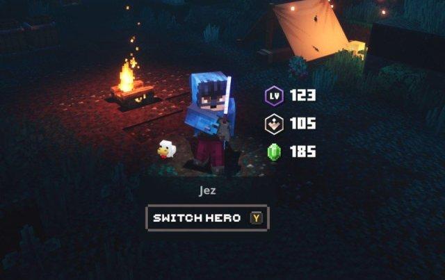 Minecraft Dungeons Jez Camp Screen