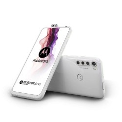 Motorola One Fusion+ in Moonlight White