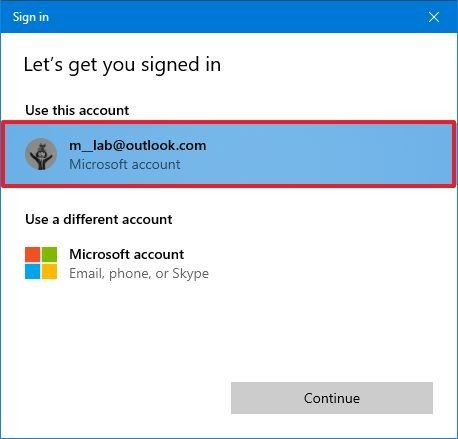 Select account account sign in Store