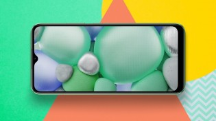 Realme C11 with notched display and Geometric Art Design