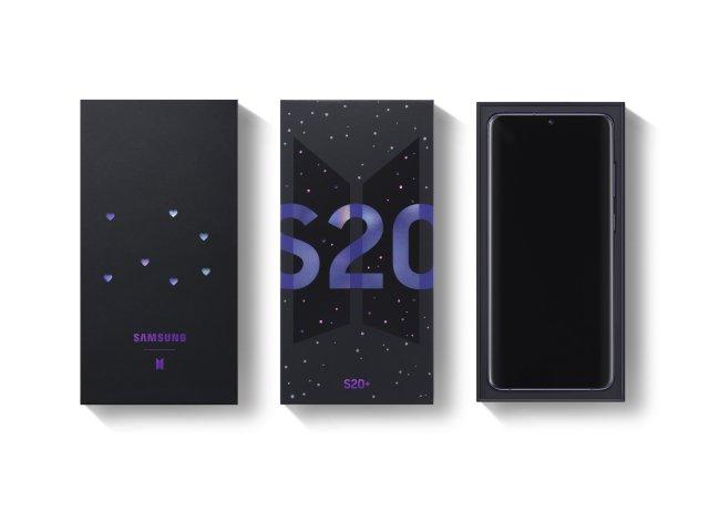 Samsung Galaxy S20+ BTS Edition Box Packaging