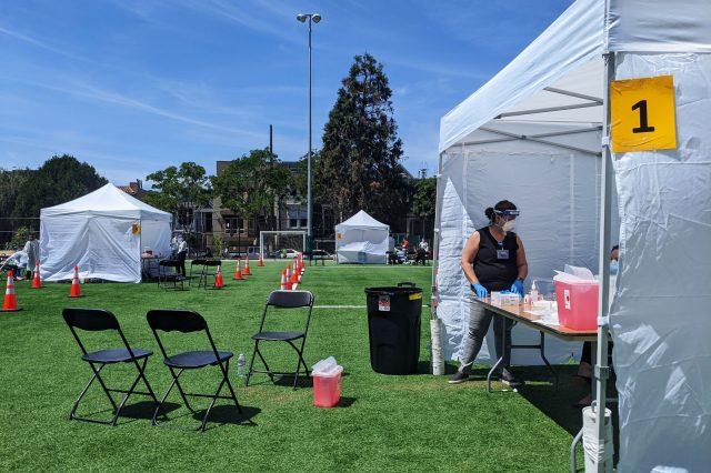 UCSF blood testing tent