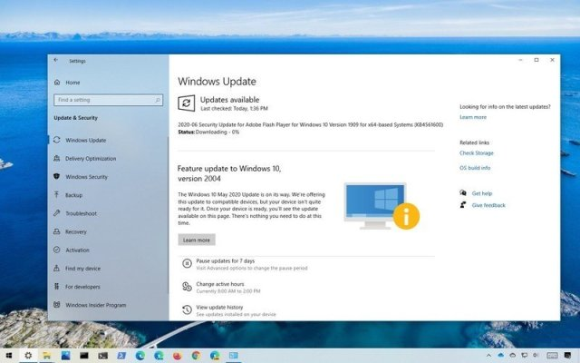 Quality Update download on Windows 10
