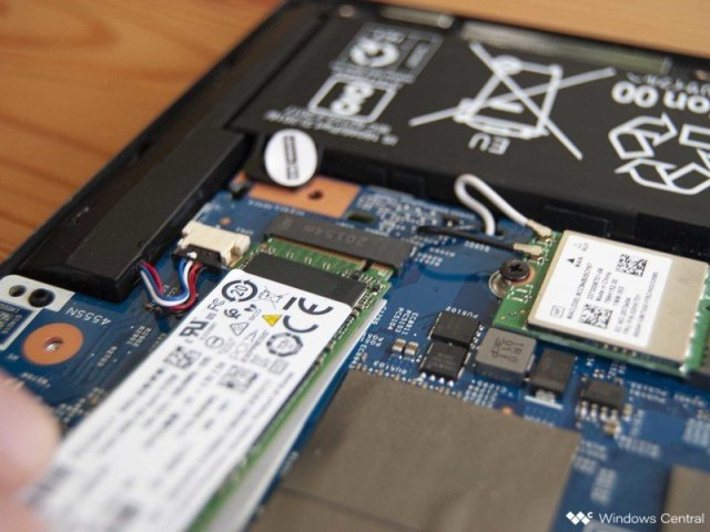 Insert the new SSD