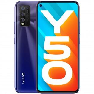 vivo Y50 in Iris Blue color