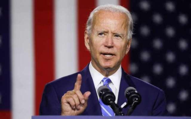 Joe Biden, le 14 juillet, à Wilmington (Delaware), lors d'un meeting de campagne.
