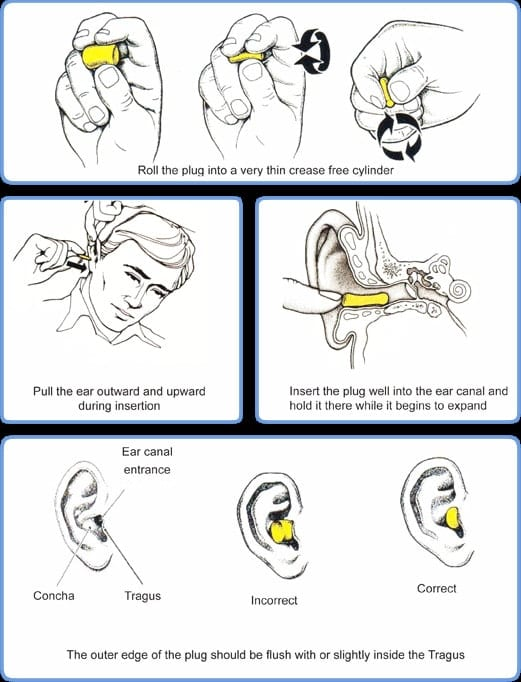 Diagram for putting in earplugs for how to use AirPods pro with a better fit for running