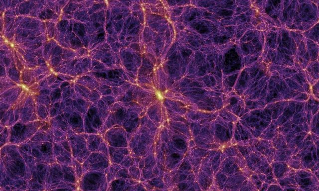 purple and gold cosmic web