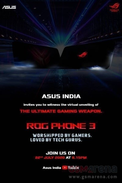 Asus ROG Phone 3 will debut in India on July 22