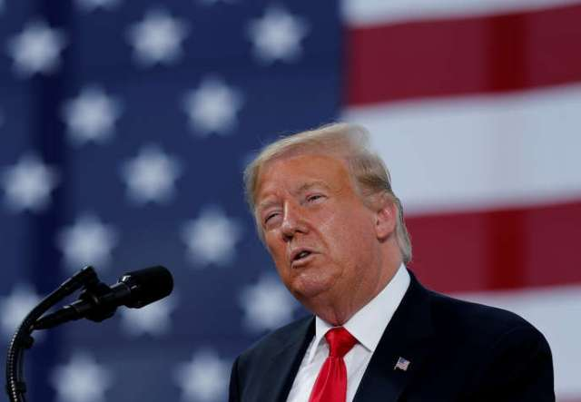 Le président américain Donald Trump à Marinette, Wisconsin, le 25 juin.