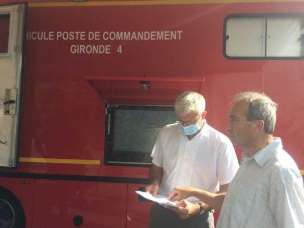 Bruno Gardère, maire de Saint-Symphorien, ici aux côté d'Eric Suzanne, sous-préfet.
