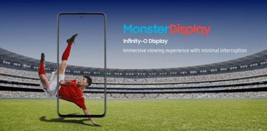Samsung Galaxy M31s Infinity-O Display