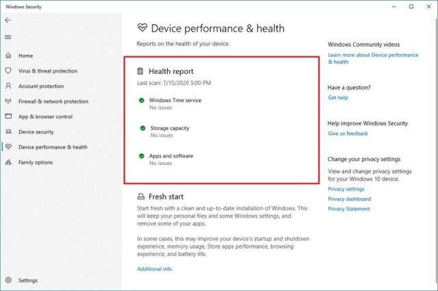 Windows Security Health Report