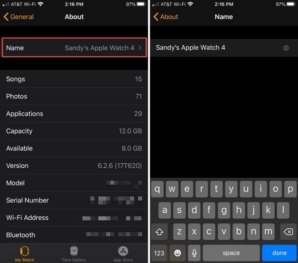 Apple Watch Change Name-iPhone