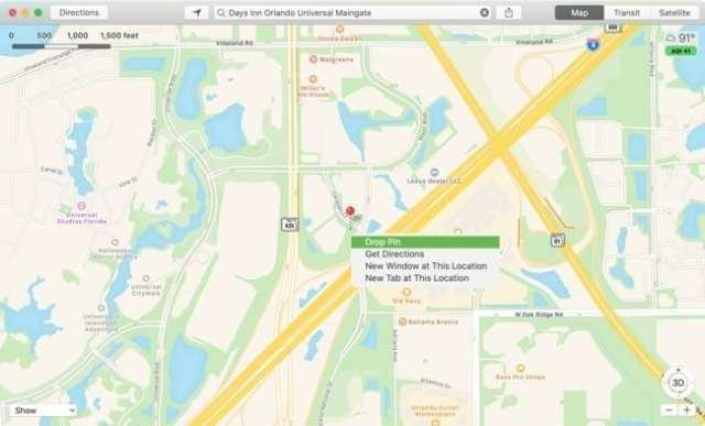 Maps Drop Pin-Mac