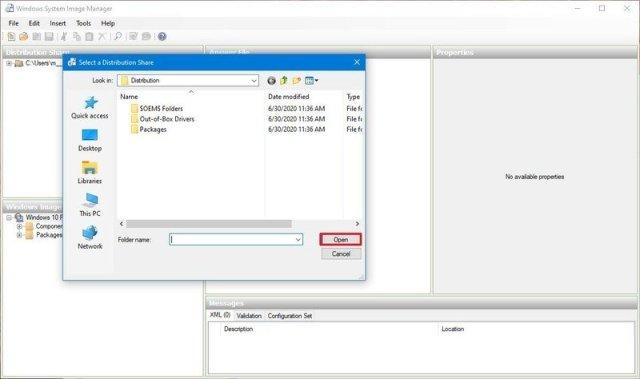 Select distribution folder