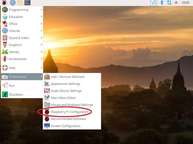 Raspi config on desktop